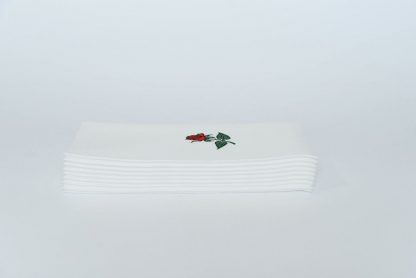 SimuLinen Signature Single Red Rose Dinner Napkin