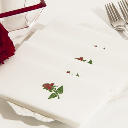SimuLinen Signature Single Rose Dinner Napkin
