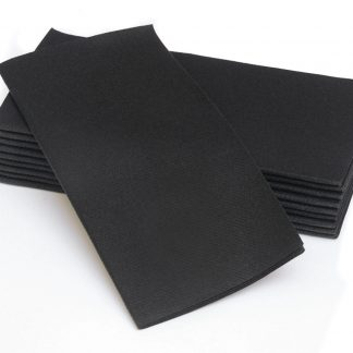 SimuLinen Signature Colored Black Dinner Napkins