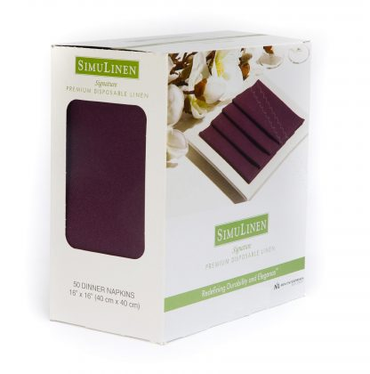 SimuLinen Signature Colored Plum Dinner Napkins