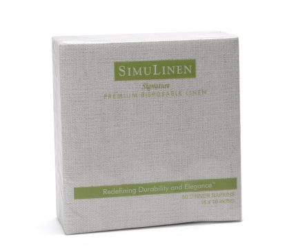 SimuLinen Gallery Grey Stone Twill Dinner Napkin