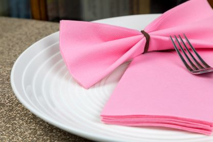 SimuLinen Signature Color Pink Dinner Napkins