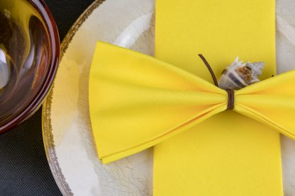 SimuLinen Signature Colored Yellow Dinner Napkins