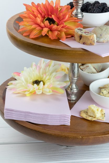 SimuLinen Cocktail and Party Napkins Beverage Napkins – Decorative, Absorbent, Cloth Like and Disposable - Light Pink / Blush