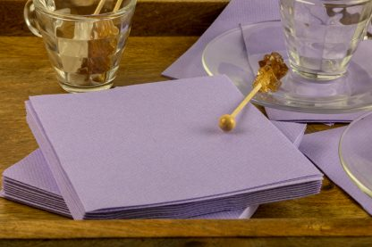 SimuLinen Cocktail & Party Napkins Beverage Napkins – Decorative, Absorbent, Cloth Like & Disposable - Lavender