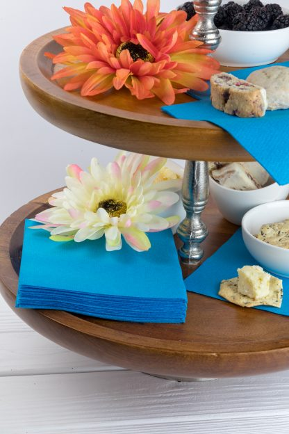 SimuLinen Cocktail & Party Napkins Beverage Napkins – Decorative, Absorbent, Cloth Like & Disposable - Aqua Blue
