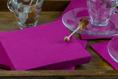 SimuLinen Cocktail & Party Napkins Beverage Napkins – Decorative, Absorbent, Cloth Like & Disposable Magenta